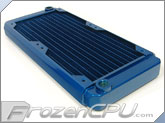 Black Ice GT Stealth 240 X-Flow Radiator - Blue