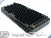 Black Ice GT Stealth 240 X-Flow Radiator - Black