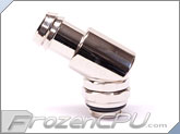 "Enzotech G1/4"" Thread 30-Degree Rotary Barb Fitting - 1/2"" ID Nickel Plate (Metallic Silver) (RHF-G1/4-12-30)"