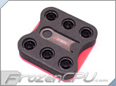 "Monsoon Free Center Compression Fitting - 7/16""ID x 5/8""OD - Modders 6 Pack Matte Black (FCC-71658-6P-MB)"