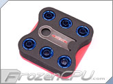 "Monsoon Free Center Compression Fitting - 7/16""ID x 5/8""OD - Modders 6 Pack Blue (FCC-71658-6P-BL)"