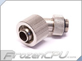 "Phobya G1/4"" Thread 3/8"" ID x 5/8"" OD 45-Degree Rotary Compression Fitting - Silver (62331)"