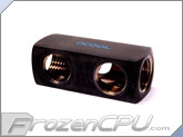 Alphacool 5-Way G1/4 Connector Block - Deep Black