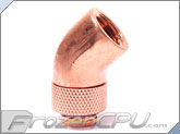 Alphacool G1/4 45� Rotary Fitting Adapter - Copper