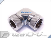 Alphacool G1/4 90� Rotary Female to Female Fitting Adapter - Chrome