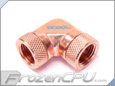 Alphacool G1/4 90� Rotary Female to Female Fitting Adapter - Copper