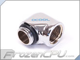 Alphacool G1/4 90� Low Profile Fitting Adapter - Chrome
