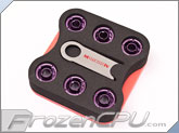 "Monsoon Free Center Compression Fitting - 3/8""ID x 1/2""OD - Modders 6 Pack Purple (FCC-3812-6P-PR)"