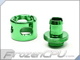 "Monsoon Free Center Compression Fitting - 3/8""ID x 1/2""OD - Single Green (FCC-3812-1P-GR)"