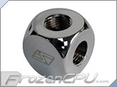 Swiftech Lok-Seal� 4-Way Manifold G1/4 Thread - Chrome (4W-G1-4-TA-CHR)