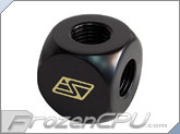 Swiftech Lok-Seal� 4-Way Manifold G1/4 Thread - Black (4W-G1-4-TA-BK)