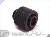 "Phobya G1/4"" Thread 3/8"" ID x 1/2"" OD Compression Fitting - Compact - Vintage Matte Black (62440)"