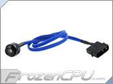 Monsoon Premium G 1/4 LED Stop Fitting - Matte Black / Blue LED (MON-LPL-MB)