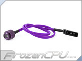 Monsoon Premium G 1/4 LED Stop Fitting - Purple / Purple LED (MON-LPL-PR)