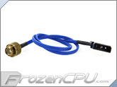 Monsoon Premium G 1/4 LED Stop Fitting - Gold / Blue LED (MON-LPL-GO)