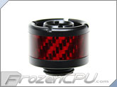 "ModMyToys Red Carbon Fiber Enhanced Compression Fitting - 7/16""ID x 5/8""OD - Single Matte Black (MMT-CFF-MB-RD-71658-1)"