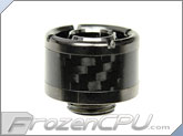 "ModMyToys Carbon Fiber Enhanced Compression Fitting - 7/16""ID x 5/8""OD - Single Black Chrome(MMT-CFF-BC-BK-71658-1)"