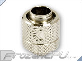 "EK G1/4 Thread Perfect Seal Compression Fitting - 12mm ID x 16mm OD (7/16"" x 5/8"") - Nickel"