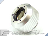 "PrimoChilll 1/2"" OD Rigid Revolver Compression Straight Knurled Fittings - Single - Anodized Silver"