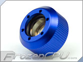 "PrimoChilll 1/2"" OD Rigid Revolver Compression Straight Knurled Fittings - Single - Anodized Blue"