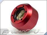 "PrimoChilll 1/2"" OD Rigid Revolver Compression Straight Knurled Fittings - Single - Anodized Red"