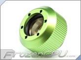 "PrimoChilll 1/2"" OD Rigid Revolver Compression Straight Knurled Fittings - Single - Anodized Green"