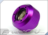"PrimoChilll 1/2"" OD Rigid Revolver Compression Straight Knurled Fittings - Single - Anodized Purple"