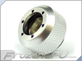 "PrimoChilll 1/2"" OD Rigid Revolver Compression Diamond Knurled Fittings - Single - Anodized Silver"