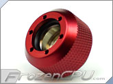 "PrimoChilll 1/2"" OD Rigid Revolver Compression Diamond Knurled Fittings - Single - Anodized Red"