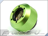 "PrimoChilll 1/2"" OD Rigid Revolver Compression Diamond Knurled Fittings - Single - Anodized Green"