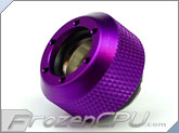 "PrimoChilll 1/2"" OD Rigid Revolver Compression Diamond Knurled Fittings - Single - Anodized Purple"