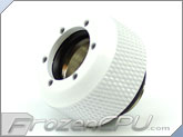 "PrimoChilll 1/2"" OD Rigid Revolver Compression Diamond Knurled Fittings - Single - White"