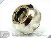 "PrimoChilll 1/2"" OD Rigid Revolver Compression Diamond Knurled Fittings - Single - Nickel Plated Brass - Silver"
