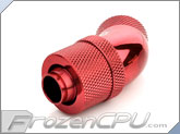 "Bitspower G1/4 Thread 3/8"" ID x 1/2"" OD 45-Degree Dual Rotary Compression Fitting - Deep Bold Red (BP-DBR45R2CPF-CC2V2)"
