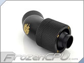 "Bitspower G1/4 Thread 3/8"" ID x 5/8"" OD 45-Degree Dual Rotary Compression Fitting - Carbon Black (BP-CB45R2CPF-CC3V2)"