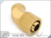 "Bitspower G1/4 Thread 3/8"" ID x 5/8"" OD 45-Degree Dual Rotary Compression Fitting - True Brass (BP-TB45R2CPF-CC3V2)"