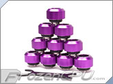 "PrimoChilll 1/2"" OD Rigid Revolver Compression Straight Knurled Fittings - 10 Pack - Anodized Purple"