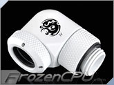 Bitspower G1/4 Thread 90-Degree Rotary Multi-Link Adapter - 12mm OD Rigid Tube - White (BP-DWE90RML)
