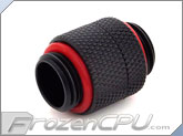 Bitspower G 1/4 Thread Male to Male Rotary Extender - Carbon Black (BP-CBRG)