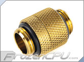 Bitspower G 1/4 Thread Male to Male Rotary Extender - True Brass (BP-TBRG)