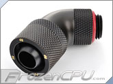 "Bitspower G1/4 Thread 3/8"" ID x 5/8"" OD 60-Degree Dual Rotary Compression Fitting - Carbon Black (BP-CB60R2CPF-CC3V2)"