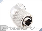 "Bitspower G1/4 Thread 3/8"" ID x 5/8"" OD 60-Degree Dual Rotary Compression Fitting - Silver (BP-60R2CPF-CC3)"