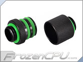 "Bitspower G1/4"" D-Plug Male / Male Coupler Set - Matte Black (BP-MBWP-C07)"