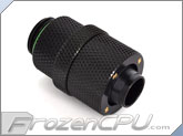 "Bitspower G1/4 Thread 3/8"" ID x 1/2"" OD Rotary Compression Fitting - Matte Black (BP-MBRCPF-CC2)"