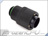 "Bitspower G1/4 Thread 1/2"" ID x 5/8"" OD Rotary Compression Fitting - Matte Black (BP-MBRCPF-CC4)"