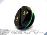 "Bitspower Matte Black Diamond G1/4"" Stop Plug w/ O-Ring (BP-MBDWP-DC06)"
