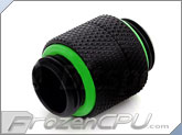 Bitspower G 1/4 Thread Male to Male Rotary Extender - Matte Black  (BP-MBRG)