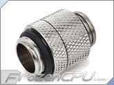 Bitspower G 1/4 Thread Male to Male Rotary Extender - Silver (BP-RG)