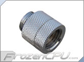 Bitspower G1/4 Anti-Twist Rotary Extender / Adapter - Silver Shining (BP-DR-C)