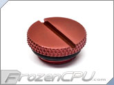 "Bitspower G1/4"" Low Profile Deep Bold Red Stop Plug w/ O-Ring (BP-DBRWP-C09)"